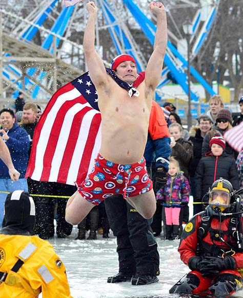 Okoboji Winter Games Polar Plunge